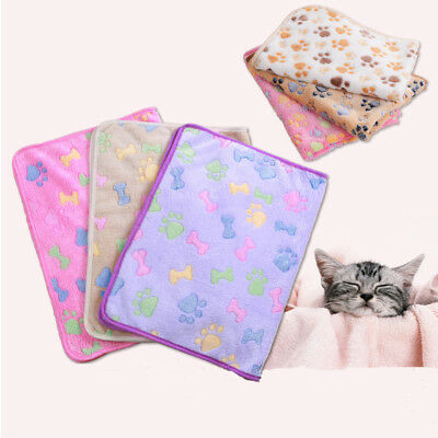 1x Pet Cat Dog Warm Mat Bed Cushion Small Large Paw Puppy Fleece Soft Blanket