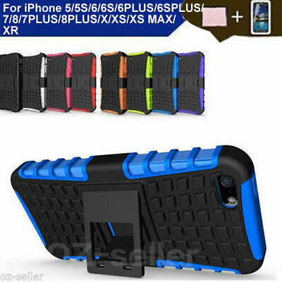 Case Cover For iPhone 5 5S PC TPU Shockproof Hybrid Kickstand Soft Skin