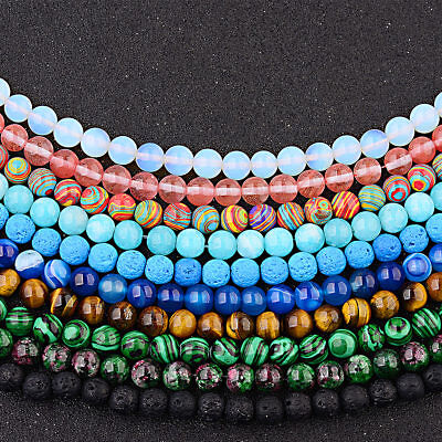 4mm 6mm 8mm 10mm Wholesale Natural Stone Round Spacer Making Loose Bead Bracelet