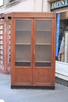 Bookcase Years '30 '40 / Bookcase Antique / Bookcase Line Simple / Bookcase