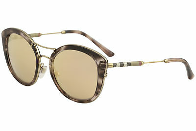 8f9570ddcdf3 Burberry Women s BE4251Q BE 4251 Q 3663 7J Pink Havana Round Sunglasses 53mm