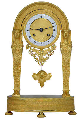 Retour d'Egypte. Kaminuhr Empire clock bronze horloge antique cartel pendule