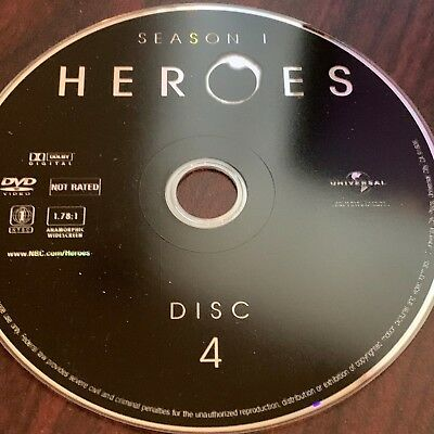 Heroes Season One(Dvd) Replacement Disc #4