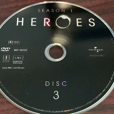Heroes Season One(Dvd) Replacement Disc #3