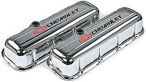 e2ebe4abe PROFORM STAMPED STEEL Chevrolet Valve Covers 141-813 Chevy BBC 396 ...