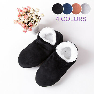 Men Soft Plush Home Slippers Winter Warm Indoor Floor Casual Ankle Boots Shoes