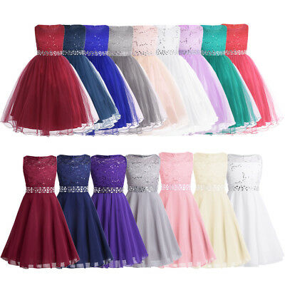 Kid Flower Girl Dress Princess Party Wedding Bridesmaid Communion Formal Dresses