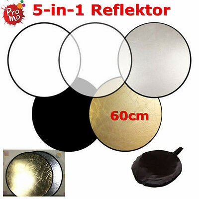 Foto Reflektor Life of Photo 60cm 5in1 Faltreflektor Silber Golden Reflektoren~