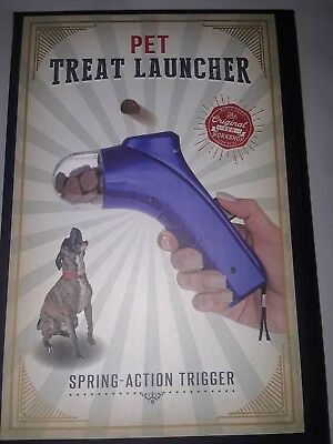 Dog Treat Snack Launcher Pet Cat Interactive Fun Shooter Training Toy Feeder Toy