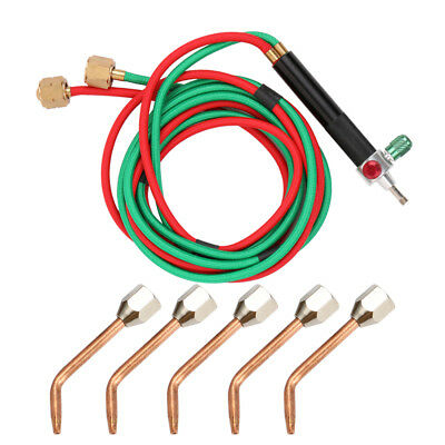 Oxygen Welding Torch Acetylene Cutting Kit W/ 5 Nozzles For Stainless Steel J1O1