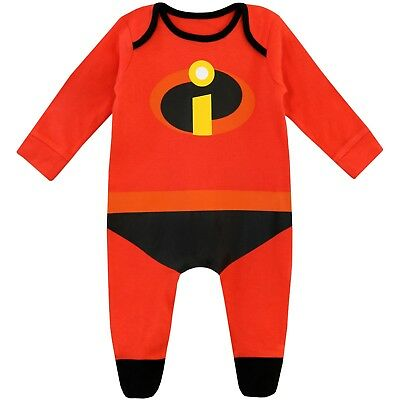 The Incredibles Baby Boys Sleepsuit | Disney Bodysuit | Incredibles Baby Pyjamas