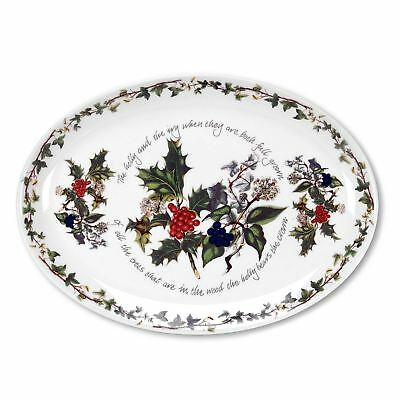 Portmeirion Holly And Ivy Oval Platter 33cm