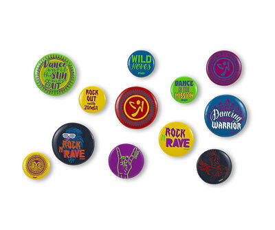 Zumba Rock N Rave Pins 12pk~ New In Package !