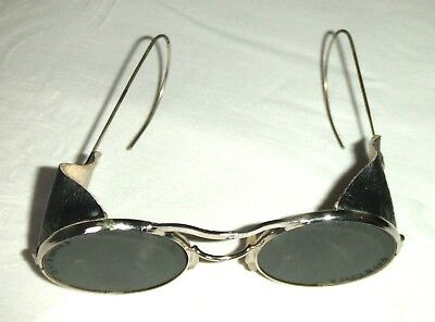 Vintage Pair of Tinted Protective Welding Goggles ~ Ideal Steam Punk Wear