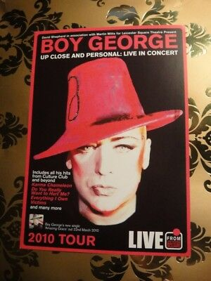 Boy George A5 Flyer - Up Close And Personal 2010 Tour