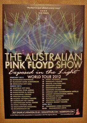 Australian Pink Floyd Show - A5 World Tour Flyer 2012 Exposed In The Light