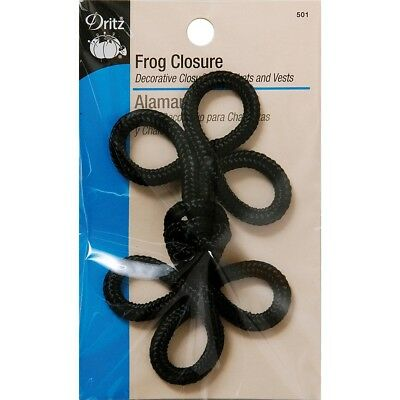 Dritz Frog Closure 3 Loop-black 4""
