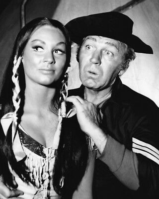 F Troop Larry Storch as Corporal Agarn with Indian girl 8x10 Photo