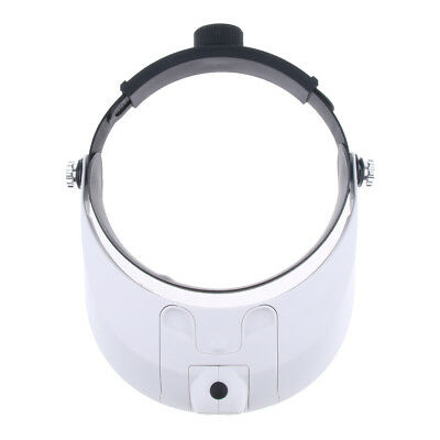 Headband LED Illuminated Magnifier Visor-1X to 3.5X with 5 Detachable Lenses