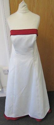 Alfred Angelo Wedding Dress White + Red UK Size 16 - FIS H8
