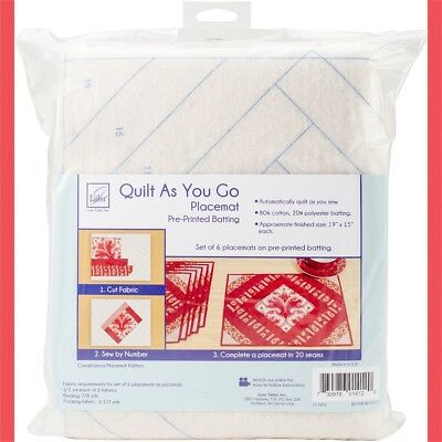 June Tailor Quilt As You Go Placemat 6/pkg-casablanca