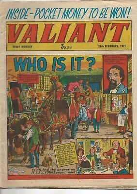 VALIANT Comic, 27th February 1971. IPC Magazines Ltd. 36 pages. FINE CONDITION!
