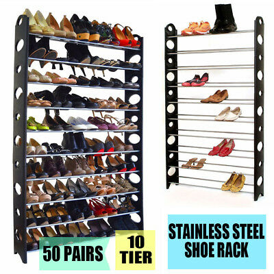 Wondrous 10 Tier 50 60 Pair Free Standing Shoe Rack Organizer Wall Ocoug Best Dining Table And Chair Ideas Images Ocougorg