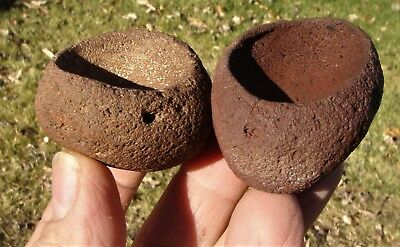Stone Paint Cups (Two), Goleta Beach Area, Santa Barbara, California