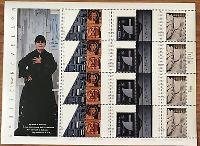 US Stamps Louise Nevelson Full Sheet Of 20 33 Cent Face Value $6.60