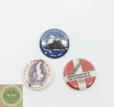 1940's Fund Raising Badges, reproduction, WW2, Wartime, Home Front