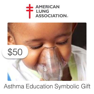 $50 Charitable Donation For: Save a Child from Potentially Fatal Asthma Attacks