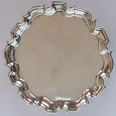 GOOD ANTIQUE GEORGE II, ENGLISH STERLING SILVER TRAY, HALLMARKED LONDON c1735