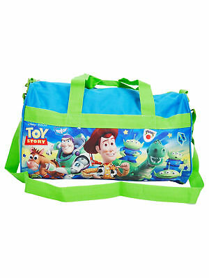 "Toy Story Duffel Bag 18"" Buzz Lightyear Woody Rex Blue Green"