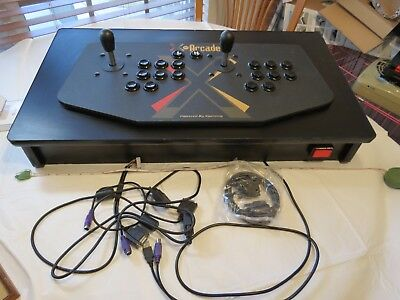 X gaming X-arcade machine retro 2 player joystick arcade vintage NEEDS REPAIR