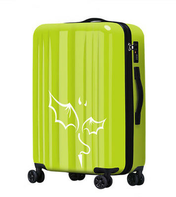 E557 Lock Universal Wheel Grass Green Travel Suitcase Cabin Luggage 24 Inches W