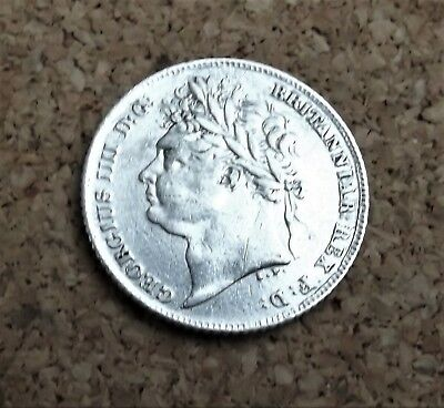 1825 Sixpence. George 1111. Good/Fare collectible Silver Coin(FREEPOST)P/34