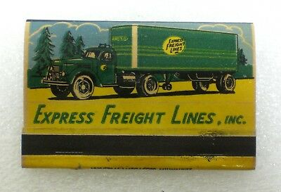 VINTAGE EXPRESS FREIGHT Lines Inc Book of Matches