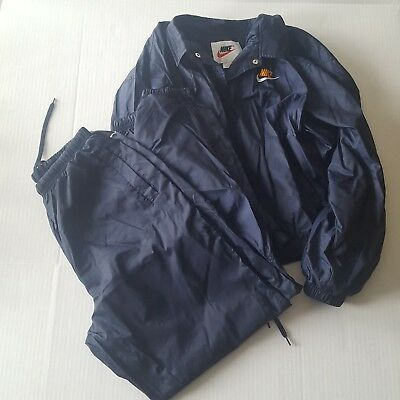Nike Windbreaker Jacket Pants Two Piece Set Navy Blue Women's Large 12 14