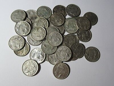1963    Sixpences     50%  SILVER     10 COINS