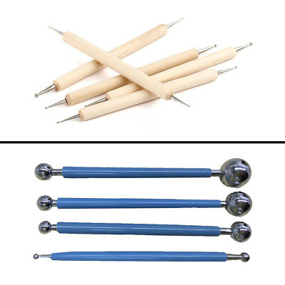Metal Ball Stylus Clay Ceramics Pottery Sculpting Modeling Tool Set
