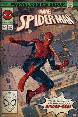 SPIDER-MAN COMIC BOOK COVER POSTER, Size 24x36 (SPIDERMAN)