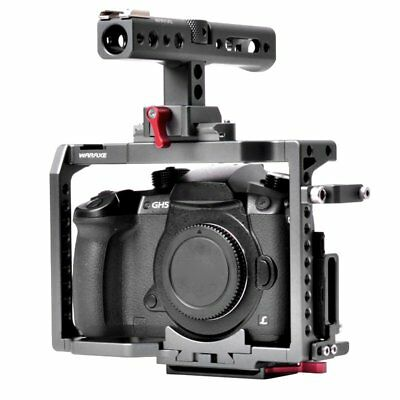 WARAXE DSLR Video Cage Rig +Top Handle For Panasonic GH4 GH5 Camera