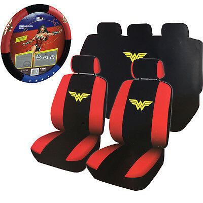 New Dc Comics Wonder Woman Front Rear Car Seat Covers