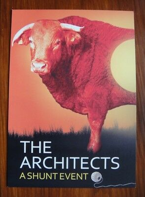 The Architects - A5 Gig Flyer - A Shunt Event - 2012