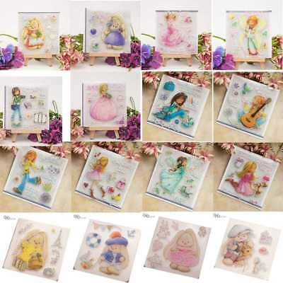 Bear Girl Clear Stamp Scrapbooking Transparent Silicone Rubber DIY Photo Album