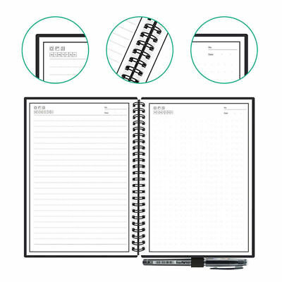 Reuse Notebook Paper-Saving Microwave Rocketbook Wave Pen Latest Traditional