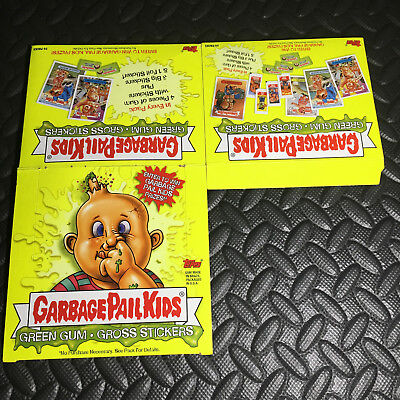 GARBAGE PAIL KIDS ALL-NEW SERIES 1 ANS1 2003 EMPTY BOX (silver foil style)