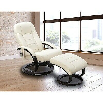 PU Leather Deluxe Massage Chair Recliner Ottoman Lounge with Remote Control
