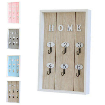 Creative KEY Holder Storage Hooks Wall Mounted Wooden Rack Hanger Chic