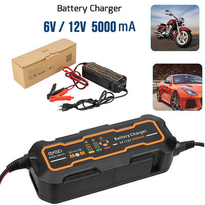 5000mA Voiture moto Intelligent Rapide Chargeur de batterie Indicateur LED 6V/12